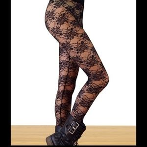 Pants - Black Lace Leggings (Not Stockings)